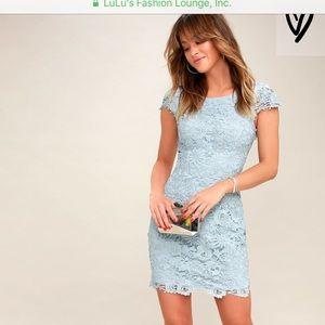 Lulu's Romance Language Mint Backless Lace Dress